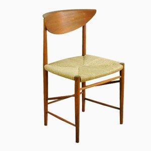 Sedia modello 313 in teak di Peter Hvidt & Orla Molgaard-Nielsen per Søborg, anni '60