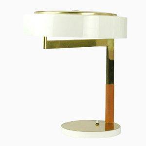 Lampada da scrivania modernista in ottone di J.T. Kalmar per Kalmar, Austria, anni '60