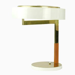 Lámpara de escritorio austriaca modernista de latón de J.T. Kalmar para Kalmar, años 60