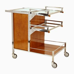Art Deco Bar Cart by Jacques Adnet, 1930s