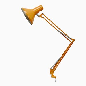 Danish Industrial Yellow Desk Lamp from HCF, 1960s
