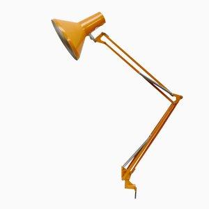 Lámpara de escritorio industrial danesa amarilla de HCF, años 60
