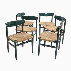 Schwedische Øresund Stühle von Børge Mogensen für AB Karl Andersson & Söner, 1954, 6er Set