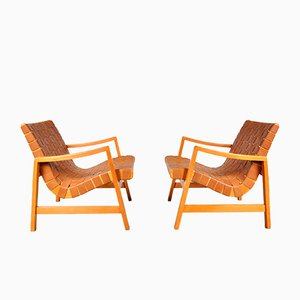Vostra Easy Chairs by Jens Risom for Knoll, 1941, Set of 2
