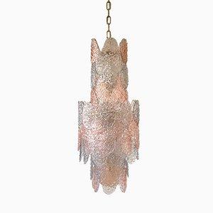 Lámpara de araña de cristal de Murano de Gino Vistosi para Vistosi, 1964