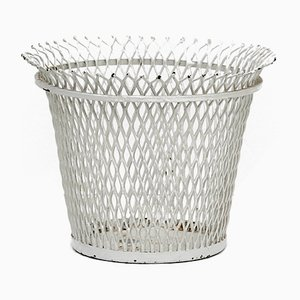 French Enameled Metal Basket by Mathieu Matégot, 1950s