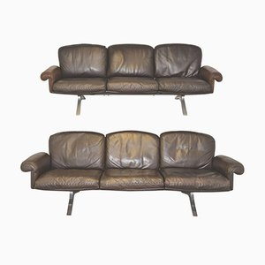 Swiss DS 31 3 Seater Sofas from de Sede, 1970s, Set of 2