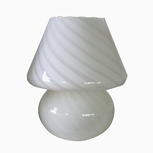 Lámparas hongo de cristal de Murano en espiral. Juego de 2