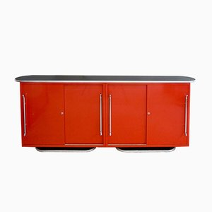 German Art Deco Model Olympia Rundform Four-Door Sideboard from Mauser