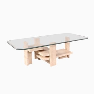 Tavolino da caffè scultoreo di Willy Ballez, anni '80