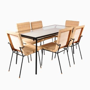 Dining Set by Carlo Pagani for Metz & Co., 1950s