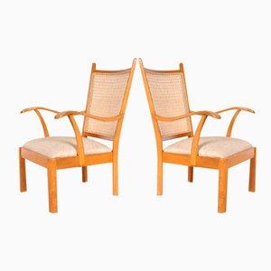 Buchenholz Sessel von Bas Van Pelt für My Home, 1940er, 2er Set