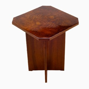 Art Deco Side Table with X-Base, 1930s