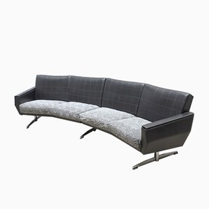 Canapé Vintage Arrondi en Cuir