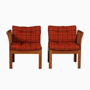 Danish Plexus Easy Chairs by Illum Wikkelsø for C. F. Christensen, 1960s, Set of 2