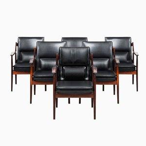Modell 431 Armlehnstühle von Arne Vodder für Sibast, 6er Set