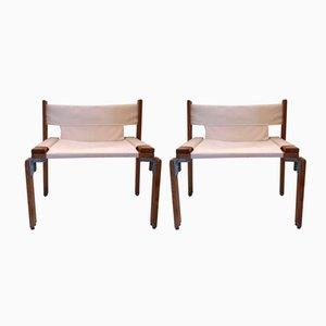 Vintage Eschenholz Sessel von Georges Candilis und Anja Blomstedt, 1960er, 2er Set