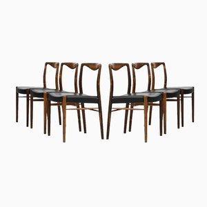 Esszimmerstühle von Kai Lyngfeldt-Larsen für Søren Willadsen, 6er Set