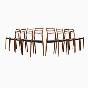 Dining Chairs by Niels O. Møller for J.L Møllers, Set of 8