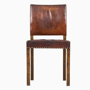 Art Deco Stuhl mit Lederbezug