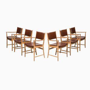 Mid-Century Armchairs by Kai Lyngfeldt Larsen, Set of 6