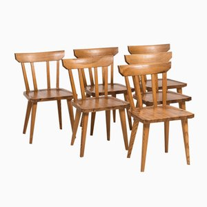 Chaises de Salle à Manger Mid-Century par Carl Malmsten, Set de 6