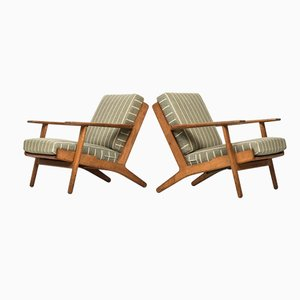 GE-290 Easy Chairs by Hans Wegner for Getama, Set of 2