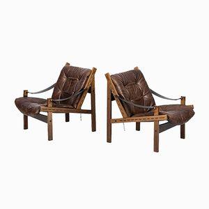 Norwegian Hunter Easy Chairs by Torbjørn Afdal for Bruksbo, 1960s, Set of 2
