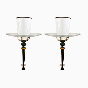 Vintage Church Wall Lamps, Set of 2