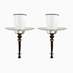 Vintage Kirchen-Wandlampen, 2er Set