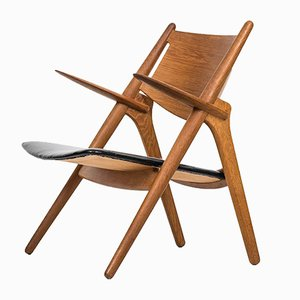 Danish CH-28 Easy Chair by Hans J. Wegner for Carl Hansen & Søn, 1951