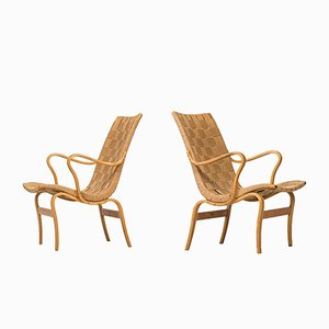 Swedish Eva Easy Chairs by Bruno Mathsson for Karl Mathsson, 1973, Set of 2
