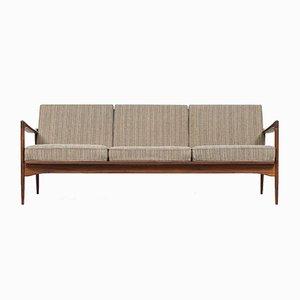 Schwedisches Afromosia Sofa mit Wollbezug von Ib Kofod-Larsen für OPE, 1950er