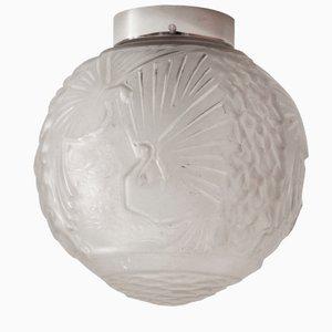 Lámpara de techo francesa Art Déco grande de Muller Frères, años 20