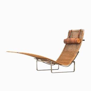 Chaise longue PK-24 di Poul Kjærholm per E. Kold, Danimarca, anni '70