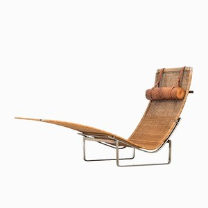 Danish PK-24 Lounge Chair by Poul Kjærholm for E. Kold, 1970s