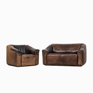 Swiss DS-47 Sofa and Easy Chair from de Sede, 1970s, Set of 2