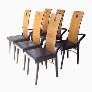 French Dining Chairs by Pierre Cardin, 1980s, Set of 6