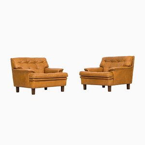 Swedish Merkur Easy Chairs from Arne Norell, 1960s, Set of 2