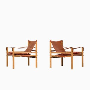 Swedish Sirocco Easy Chairs from Arne Norell, 1960s