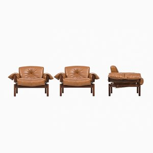Brazilian Easy Chairs from Percival Lafer, 1970s, Set of 3