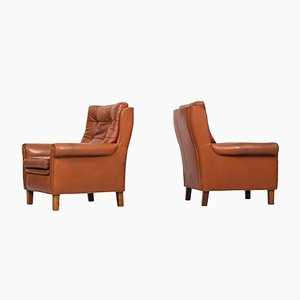 Swedish Buffalo Leather Easy Chairs from Arne Norell, 1960s, Set of 2