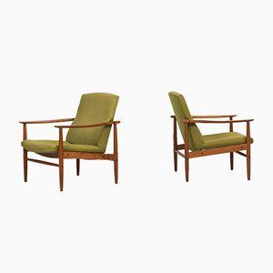 Mid-Century Teak Easy Chairs, 1950s, Set of 2
