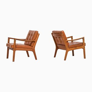 Model 116 Senator Easy Chairs by Ole Wanscher for France and Son, 1951, Set of 2