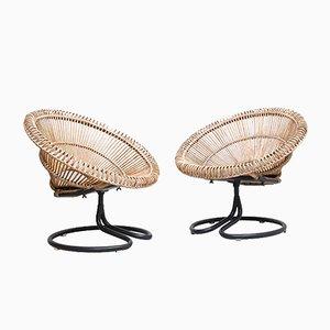 Niederländische Kegel Stühle, 1950er, 2er Set