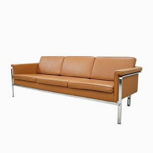 German 6913 Cognac Leather Sofa by Horst Brüning for Kill International, 1960s