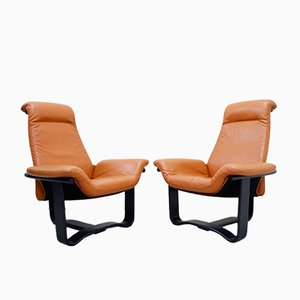 Norwegian Manta Lounge Chairs by Ingmar Relling for Westnofa, 1970s, Set of 2