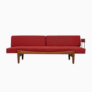 Rotes Tagesbett von Ib Kofod-Larsen für Seffle Möbelfabrik