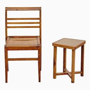 Stuhl und Tisch von René Gabriel, 1940er