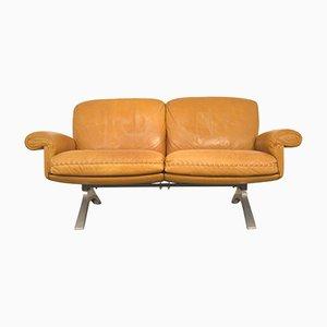 Sofá de dos plazas DS 31 suizo vintage de de Sede, años 70